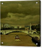 Oncoming Storm Paris France Acrylic Print
