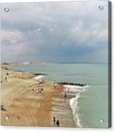 One Cool Beach Day  Acrylic Print