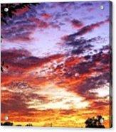 One Dawn Autumn Sky Acrylic Print