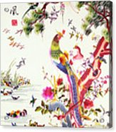 One Hundred Birds With A Phoenix, Canton, Republic Period Acrylic Print