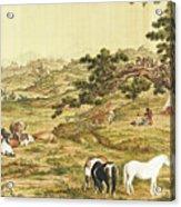 One Hundred Horses 5 Acrylic Print