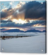 One More Moment - Sunburst Over White Sands New Mexico Acrylic Print