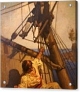 One More Step Mr. Hands - N.c. Wyeth Painting Acrylic Print