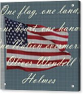 One Nation Acrylic Print