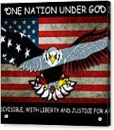 One Nation Under God Acrylic Print