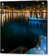 One Night In Portofino - Una Notte A Portofino Acrylic Print