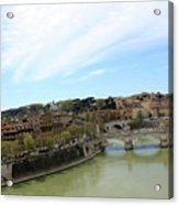 One Of Rome's Bridge Acrylic Print