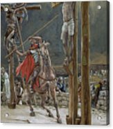 One Of The Soldiers With A Spear Pierced His Side Acrylic Print by Tissot