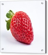 One Red Strawberry Acrylic Print