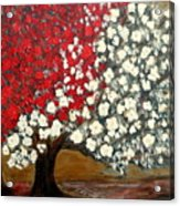 One Red Tree Acrylic Print