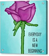One Rose Everyday Acrylic Print