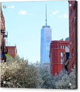 One World Trade Center In Spring Acrylic Print