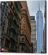One World Trade Center New York Ny From Nassau Street Acrylic Print