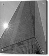 One World Trade Center New York Ny Sunset Black And White Acrylic Print
