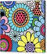 One Yellow Bloom Acrylic Print