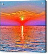 Oneida Lake Sunset Art Acrylic Print