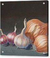 Onions And Garlic Acrylic Print