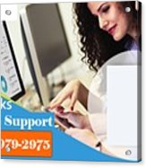 Online Support Phone Number For Quickbooks Enterprise Acrylic Print