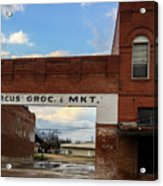 Only The Sign Remains #vanishingtexas Gone Grocery Acrylic Print