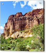 Onward And Upward At The Superstition Mountains Of Arizona Acrylic Print