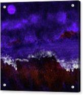 Oocean In The Moonlight  Acrylic Print