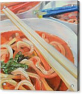 Oodles And Noodles, 2017 Acrylic Print