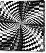 Op Art Twist Acrylic Print