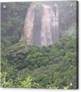 Opaekaa Falls On Kauai During A Storm Acrylic Print