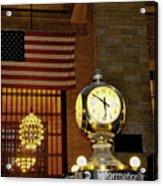 Opal Atomic Clock At Grand Central Acrylic Print