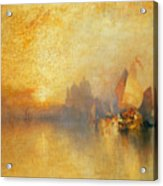 Opalescent Venice Acrylic Print by Thomas Moran