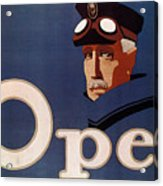 Opel - German Automobile Manufacturer - Vintage Automotive Advertising Poster - Minimal, Blue Acrylic Print