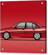 Opel Omega A, Vauxhall Carlton 3000 Gsi 24v Red Acrylic Print