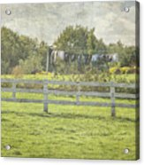 Open Air Clothes Dryer Acrylic Print