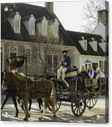 Open Carriage Ride In Colonial Williamsburg Virginia Acrylic Print