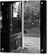 Open Door B-w Acrylic Print