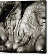 Two Old Hands Acrylic Print