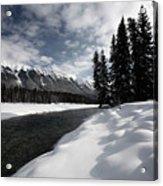 Open Water In Winter Acrylic Print