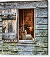 Open Window In Pioneer Home Acrylic Print by Jill Battaglia
