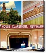 Opera House Claremont Nh Acrylic Print