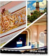 Opera House Diagonal Collage Acrylic Print