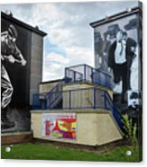 Operation Motorman Mural In Derry Acrylic Print