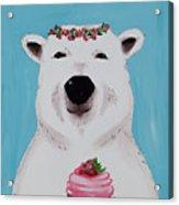 Ophelia The Polar Bear  Acrylic Print