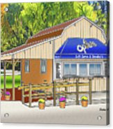 Opie's Snowball Stand Acrylic Print