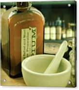 Opium Bottle In Apothecary Acrylic Print