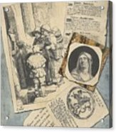 Optical Illusion With Prints And Pamphlets, L. Groskopf, C. 1746 Acrylic Print