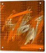 Orange Abstract Art - Orange Filter Acrylic Print