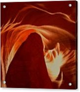 Orange Abstract At Upper Antelope Acrylic Print