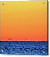 Orange And Blue Morning 2  Acrylic Print
