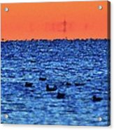 Orange And Blue Morning 4  Acrylic Print