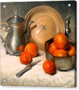 Orange And Gray Acrylic Print